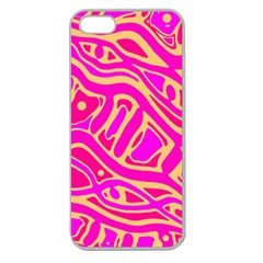 Pink abstract art Apple Seamless iPhone 5 Case (Clear)
