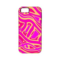 Pink abstract art Apple iPhone 5 Classic Hardshell Case (PC+Silicone)