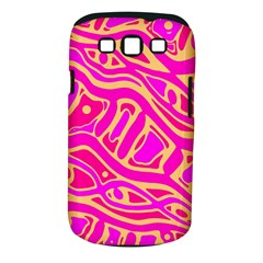 Pink abstract art Samsung Galaxy S III Classic Hardshell Case (PC+Silicone)