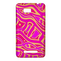 Pink abstract art HTC One SU T528W Hardshell Case