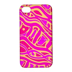 Pink abstract art Apple iPhone 4/4S Hardshell Case with Stand