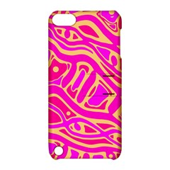Pink abstract art Apple iPod Touch 5 Hardshell Case with Stand