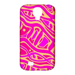 Pink abstract art Samsung Galaxy S4 Classic Hardshell Case (PC+Silicone)