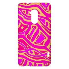 Pink abstract art HTC One Max (T6) Hardshell Case