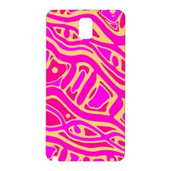 Pink abstract art Samsung Galaxy Note 3 N9005 Hardshell Back Case