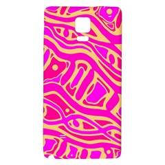 Pink abstract art Galaxy Note 4 Back Case