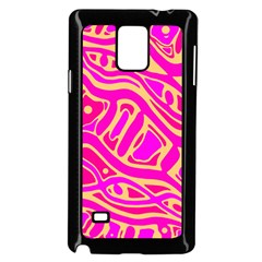 Pink abstract art Samsung Galaxy Note 4 Case (Black)