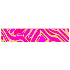 Pink abstract art Flano Scarf (Small)