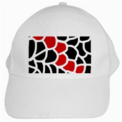 Red, black and white abstraction White Cap