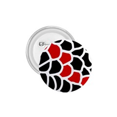 Red, black and white abstraction 1.75  Buttons