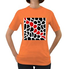 Red, black and white abstraction Women s Dark T-Shirt