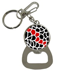 Red, black and white abstraction Bottle Opener Key Chains