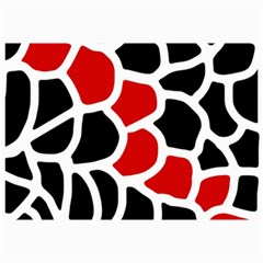 Red, black and white abstraction Collage Prints