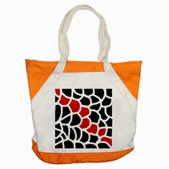 Red, black and white abstraction Accent Tote Bag