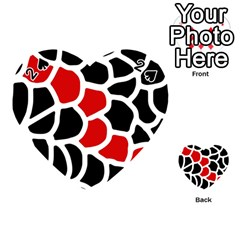 Red, black and white abstraction Playing Cards 54 (Heart)