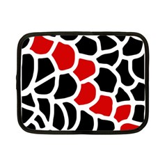 Red, black and white abstraction Netbook Case (Small)