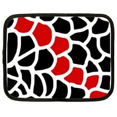 Red, black and white abstraction Netbook Case (Large)
