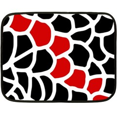 Red, black and white abstraction Double Sided Fleece Blanket (Mini)