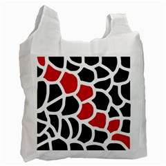 Red, black and white abstraction Recycle Bag (Two Side)