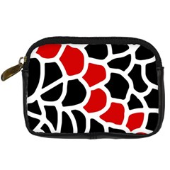 Red, black and white abstraction Digital Camera Cases