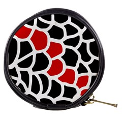 Red, black and white abstraction Mini Makeup Bags