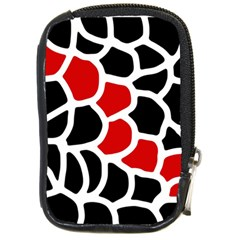 Red, black and white abstraction Compact Camera Cases