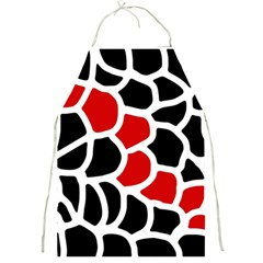 Red, black and white abstraction Full Print Aprons