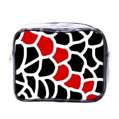 Red, black and white abstraction Mini Toiletries Bags