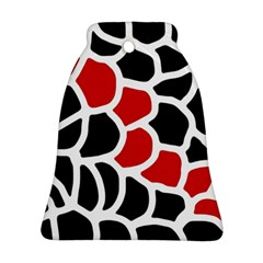 Red, black and white abstraction Bell Ornament (2 Sides)