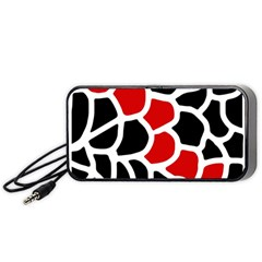 Red, black and white abstraction Portable Speaker (Black)