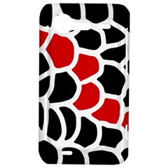 Red, black and white abstraction HTC Incredible S Hardshell Case