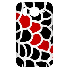 Red, black and white abstraction HTC Desire HD Hardshell Case