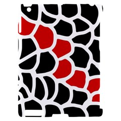 Red, black and white abstraction Apple iPad 2 Hardshell Case (Compatible with Smart Cover)