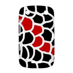 Red, black and white abstraction BlackBerry Curve 9380