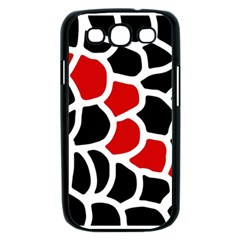 Red, black and white abstraction Samsung Galaxy S III Case (Black)