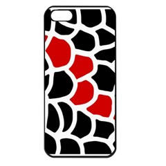 Red, black and white abstraction Apple iPhone 5 Seamless Case (Black)