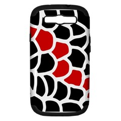 Red, black and white abstraction Samsung Galaxy S III Hardshell Case (PC+Silicone)