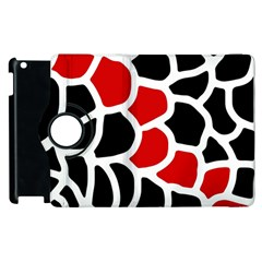 Red, black and white abstraction Apple iPad 2 Flip 360 Case