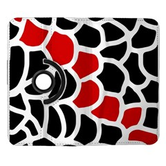 Red, black and white abstraction Samsung Galaxy Note II Flip 360 Case