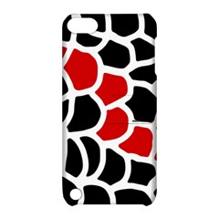 Red, black and white abstraction Apple iPod Touch 5 Hardshell Case with Stand
