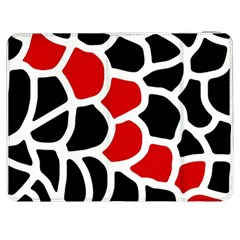 Red, black and white abstraction Samsung Galaxy Tab 7  P1000 Flip Case