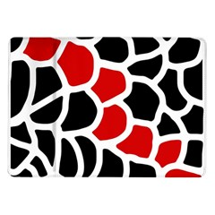 Red, black and white abstraction Samsung Galaxy Tab 10.1  P7500 Flip Case