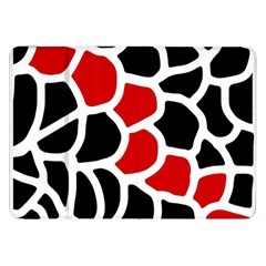 Red, black and white abstraction Samsung Galaxy Tab 8.9  P7300 Flip Case