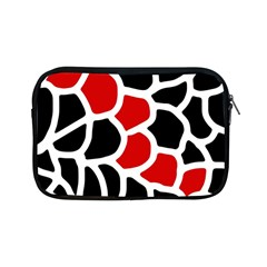 Red, black and white abstraction Apple iPad Mini Zipper Cases