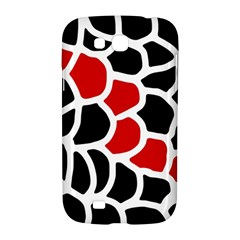 Red, black and white abstraction Samsung Galaxy Grand GT-I9128 Hardshell Case