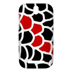 Red, black and white abstraction HTC One SV Hardshell Case