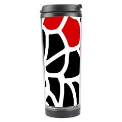 Red, black and white abstraction Travel Tumbler