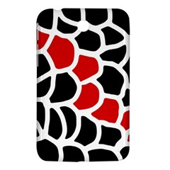 Red, black and white abstraction Samsung Galaxy Tab 3 (7 ) P3200 Hardshell Case