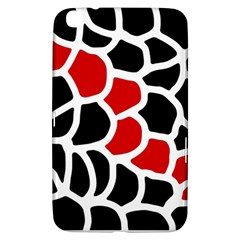 Red, black and white abstraction Samsung Galaxy Tab 3 (8 ) T3100 Hardshell Case