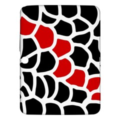 Red, black and white abstraction Samsung Galaxy Tab 3 (10.1 ) P5200 Hardshell Case